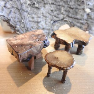 Myrtle Burl Occasional Tables
