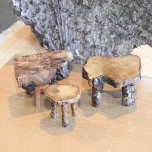 Card table and stool